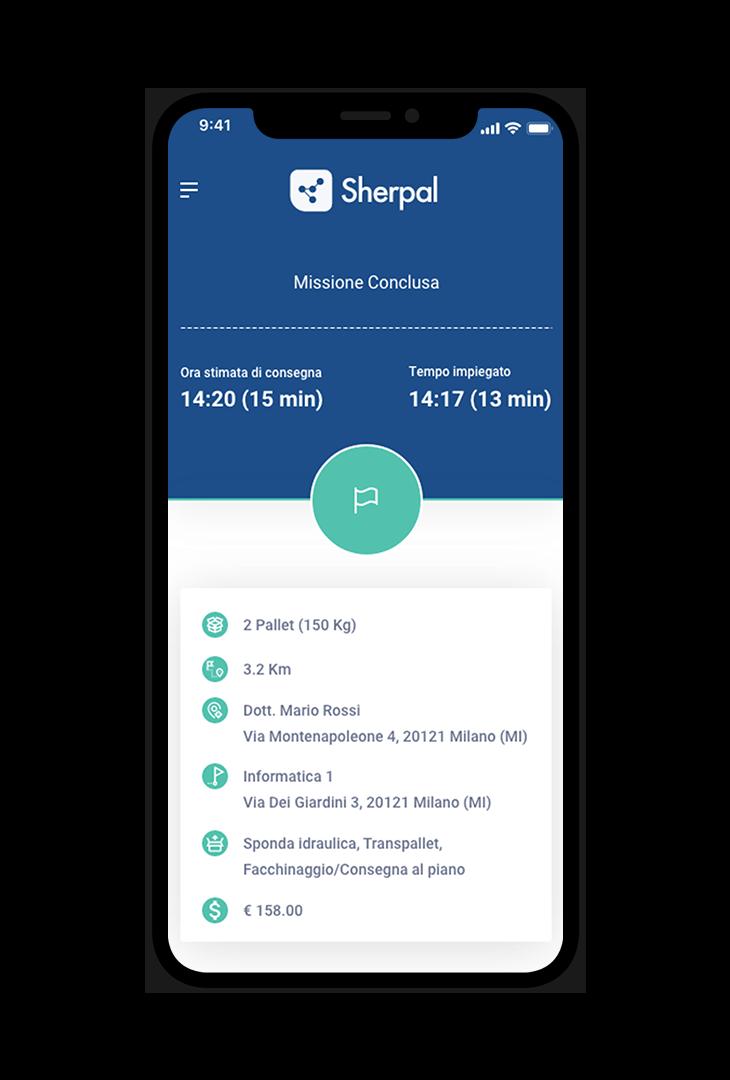 Sherpal mobile app Accetta